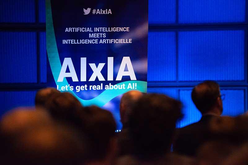 Publikum und Bühne bei der AIxIA Konferenz