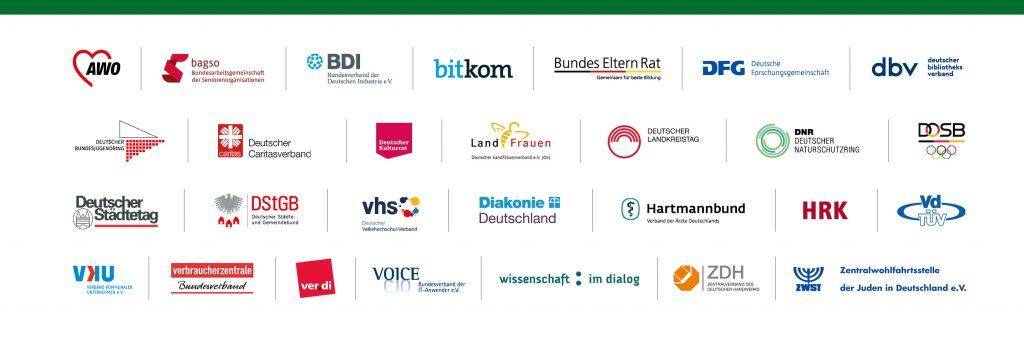 """Logoleiste Initiative """"Digital für alle"""""""