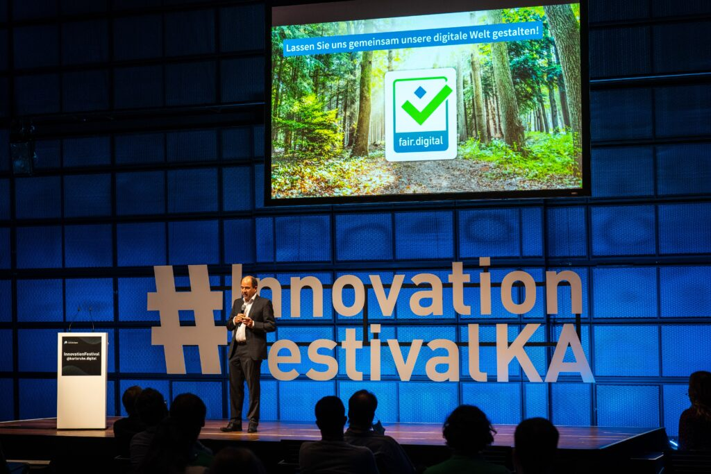Martin Hubschneider beim InnovationFestival @karlsruhe.digital